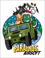 ParafrogAirsoft Christmas logo by justicefrog