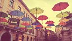 Rainbow Umbrellas by Angelus-Fallen