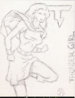 Recollection Sketch Cards: Thunder Girl by JasonShoemaker