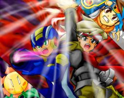 MegamanBN4: Fight against Dark by maruringo