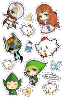 zelda stickers by battlerobots