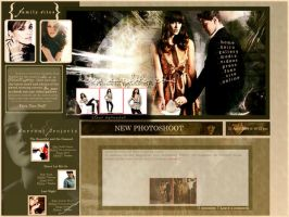 Fake Keira Website Layout by xiggy01x