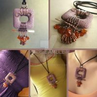 Purple Amulet Necklace by popnicute