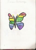 Rainbow Butterfly by choco-latte-squirrel