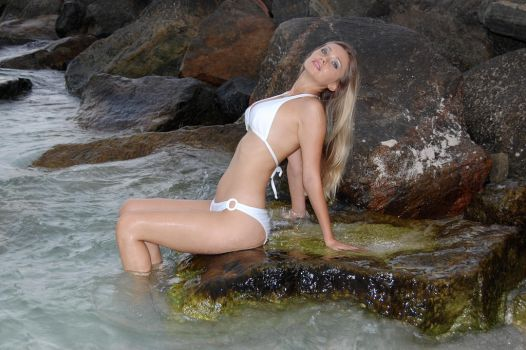 Bathing Angel Of The Rocks 2 by LionheartLive