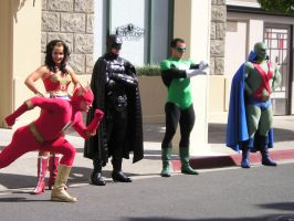 Gold Coast Movie World Justice League Characters by renstar71