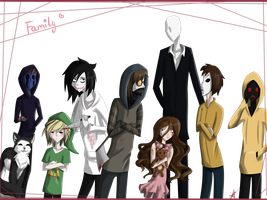 dat Creepypasta Family |+ Speedart by ProxyNova