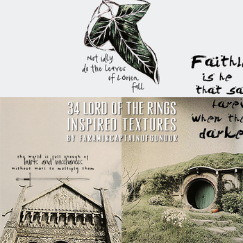 34 Lord of the Rings Inspired Textures by remuslupins
