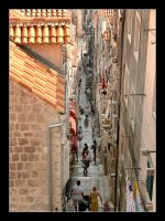 Down The Stairs - Streets Of Dubrovnik by skarzynscy