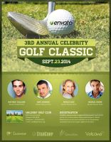 Celebrity Golf Classic Flyer Template by loswl