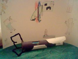 Finished revamped portal gun by MacandBloo101