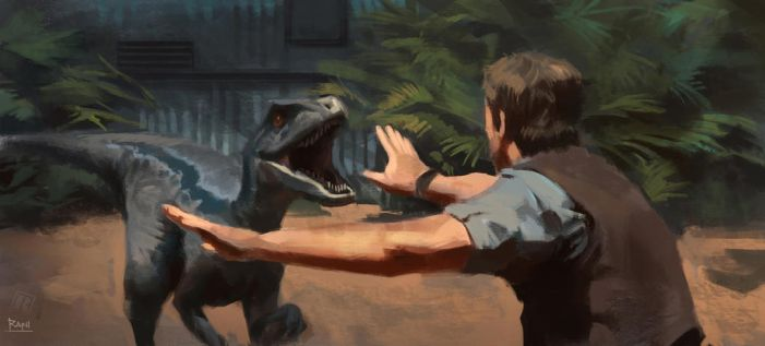 Jurassic World Raptor study by Raph04art