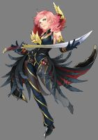 FF13 Lightning: Majestic Black Full View by nururuateka