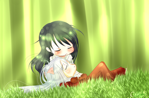 Inuyasha - Nap time by Etrilya