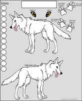 Free Wolf Reference Template by Miahii