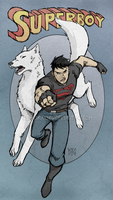 Superboy and Wolf by DeanGrayson