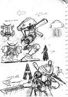 Mech: Frog knight concept by Shark-Butt