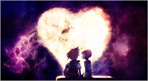 sora and kairi by silvers-azz