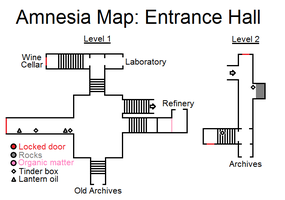 Amnesia Map: Entrance Hall by HideTheDecay