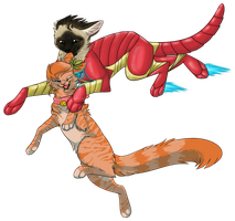 Rea and Iron Mew TR by meeshmoose