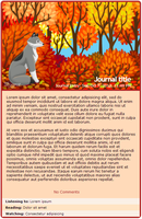 Furry-Tales Autumn journal skin by Stygma