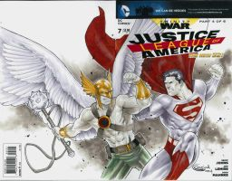 MegaCon PreOrder Superman vs Hawkman by Sajad126