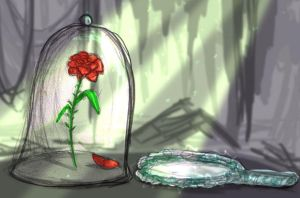 Enchanted Rose,  Magic Mirror by musicsuperspaz