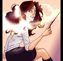 HP - Playing with Lumos spell by DraconisCrescendo