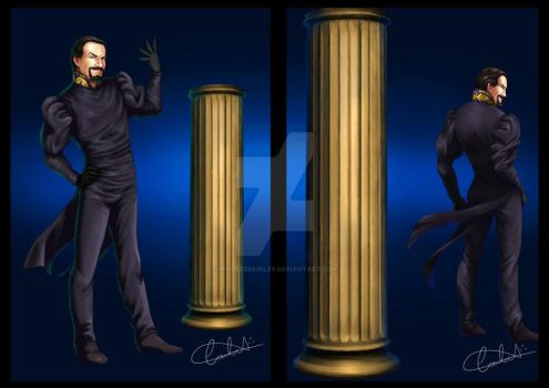 The Master and The TARDIS - front and back by MistressAinley