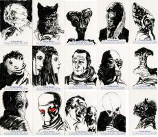 Star Wars Sketch Cards - Cantina by clayrodery