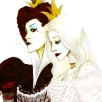 Red Queen White Queen by fluffys-inu