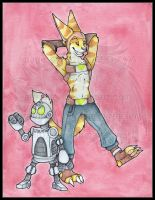 Original: Watercolor and Ink Ratched_Clank 2015 by AirRaiser