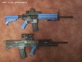 SRC SR416 and Ares L85 A2 Airsoft by Luckymarine577