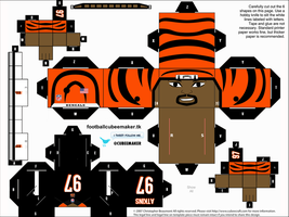 Geno Atkins Bengals Cubee by etchings13