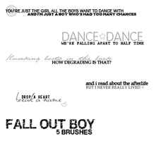 LYRICS: FALL OUT BOY by fleuve-stock