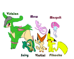 My Pokemon Wite  Team by TailTehEeveelution