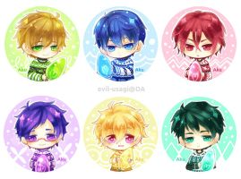 Free! christmas buttons by Evil-usagi