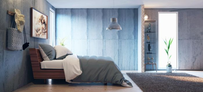 Concrete Bedroom - Vray for Cinema 4D by externible