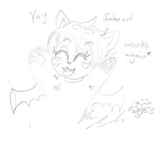 Yay for internet working again by Kittychan2005