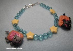 Love + Hate: Nyan Cat Bracelet by gothic-yuna