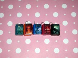 Percy Jackson and the Olympians Book Charms by ichigoluv