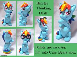 Thinking Hipster Dash Sculpt by CadmiumCrab