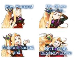 Viridi's rant against humans. by VinceOnAStick