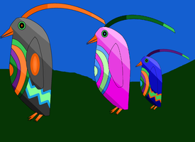 The Color Changing Penguins by Primeapekingdom