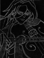 violinist at night by cms-star