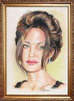 Angelina Jolie by ink-line