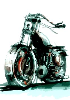 Toy motorcycle by AnnaSzy