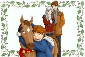 KArthur Christmas Card by bellsandy