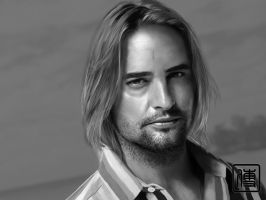 josh holloway sawyer paint by JoeDieBestie