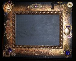 Steampunk framed slate collage by lilibat